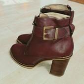 Кожа, крутые дорогущие ботинки на осень