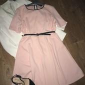 Шикарное персиковое платье миди , большой размер !