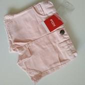 Джинсовые шорты для маленькой модницы 6-12 мес