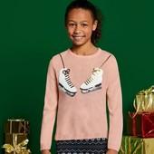 Стильный свитерок с пайетками на девочку Pepperts Германия размер 134/140
