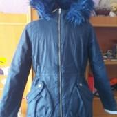 Куртка , зима, внутри мех, размер 13 лет 158 см. Matalan