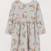 платье H&M Англия из 100% котона. Новое, с бирками. Размер 8-10 лет на рост 134-140 см