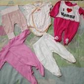 Пакет вещей на девочку от 0 до 12 месяцев.