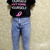 Собираем лоты!! Комплект новая футболка +джинсы, размер s-m