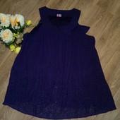 Шикарное сиреневое платье-туника, р.56-58. Состояние новой вещи