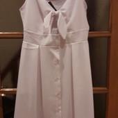 Классное летнее,белое, платье!Отличное на отдых!!!!