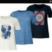 Котонові футболки для пишних форм тм Esmara. Лише біла. Заміри в темі.