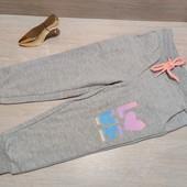 Германия!!! Суперовые коттоновые спортивные штанишки для девочки! 86/92!
