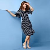 Стильное легкое платье с поясочком от Tchibo(Германия), размеры наши: 46-48 (40/42 евро)