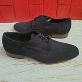 Туфлі із натуральної замші зовні і нат.шкіри всередині 41 рр і устілка 27 см.