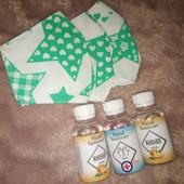 Антисептик для рук, большой объем, 100 мл! Аромат мандарин или без добавок! + Многоразовая маска