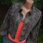 Очень стильная джинсовая куртка в тигровом принте!