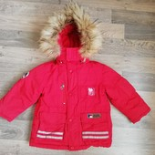 Фирменная Зимняя пуховая куртка