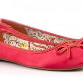 Сатиновые шелковистые туфли балетки 38