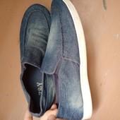 Стильные джинсовые макасы