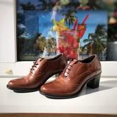 Фирменные кожаные туфельки, стелька 24 см