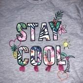 Стоп! ❤️ Модная футболка-туника ❤️ С воланом для девочки. Много лотов, заходите)