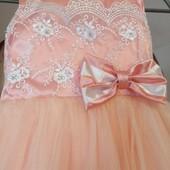 Нежное выпускное платье на 6-8 лет
