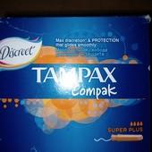 Целая упаковка Tampax super plus 16 шт. Срок годности до 2/2023 года
