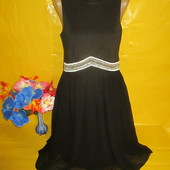 Очень красивое женское платье с красивым поясом грудь 43-45 см рр 10 !!!!!!!!