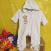 Флисовый детский комбинезон слип пижама на 3 мес !!!!!!!
