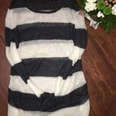 Воздушный мохеровый свитер для беременных H&M размер М