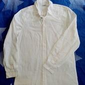 Мужская рубашка льняная от Livergy размер М 48/50 ворот 39/40см.