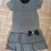 Платьеце для школьницы, 7-9лет, одето 1 раз!