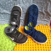 2 пары кроссовок Nike 25р. синие 27 но маломерит.