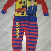 Слип пижама домашний комбинезон на мальчика 3-4года