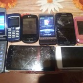 телефоны на запчасти 8 шт