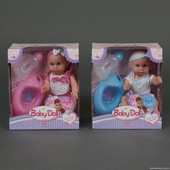 """Многофункциональная кукла""""Baby born""""закрыв./открыв. глазки,пьет,писяет.Бутылочка,соска,горшок."""