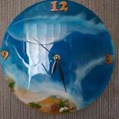 Часы интерьерные ручной работы