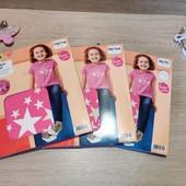 Распродажа!! Лот из классной коттоновой футболки для девочки! В лоте 98/104!