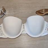 Качественное белье шведского бренда H&M! Классический просиликоненый бюстик! 75С неполная!
