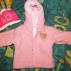 куртка на девочку и шапочка 3-6 месяцев