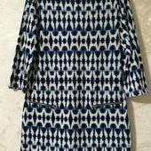 Мягкое короткое платье, орнамент, F&F
