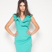 Красивое платье, коралл хл