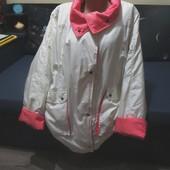 Обалденная курточка на сантипоне. Большой размер. Отл.сост.