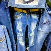 Новые турецкие фабричные джинсы р. 26, S, ПОБ 49 см, пот 39 см