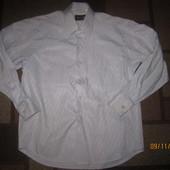 Классная подростковая рубашка для школы,состояние хорошее, р.116/122 на 6/7 лет