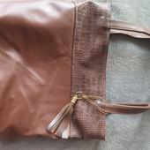 Большая вместительная шоколадная сумка