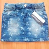 Симпатичная джинсовая юбка