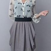 блузка в принт бантики