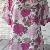 красивая блуза-футболка, батал! на весну -лето идеально!