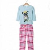 Котоновая пижама с фланелевыми штанами Lupilu 110 /116