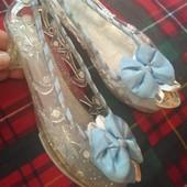 Настоящие хрустальный туфельки Золушки 19см