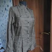 Легкая блуза рубашка шелк+хлопок M/44-46