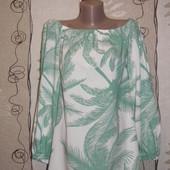 Блуза с открытыми плечами bonprix,р.16 пог-52,длинна-62 от плеча,по низу-60,рукав-57