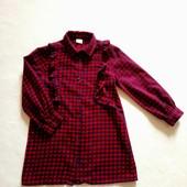 Платье-рубашка Next на 5 лет, рост 110, 100% хлопок